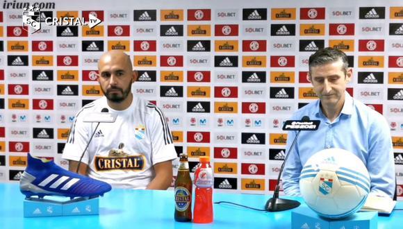 Riquelme fue presentado en Sporting Cristal (Captura)