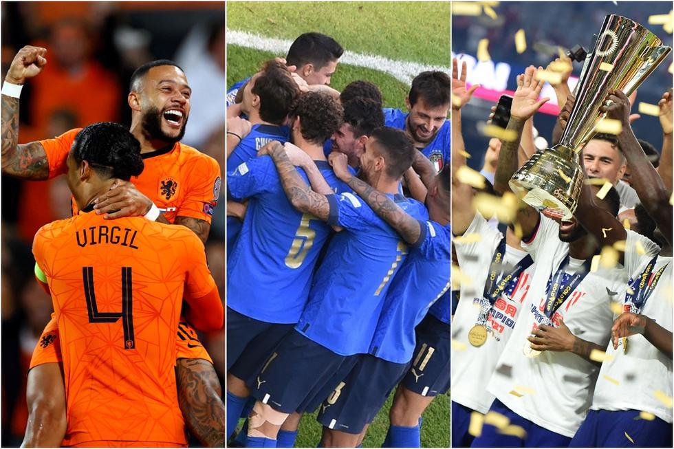Las selecciones con más triunfos en el 2021 contando todas las competiciones.
