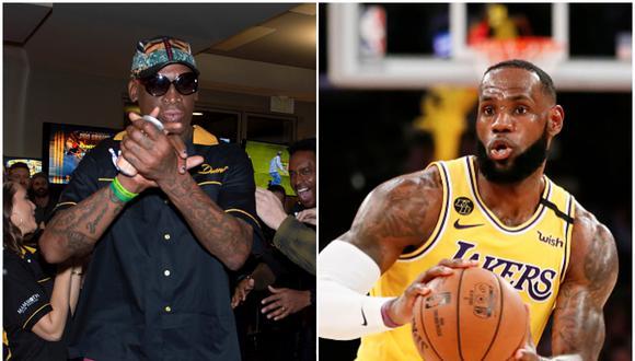 Rodman y LeBron: el primero brilló en los noventa y el segundo es una estrella del baloncesto actual. (Foto: Getty Images)