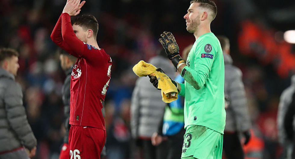 Adrián San Miguel juega como portero en el Liverpool de la Premier League inglesa. (Foto: Getty Images)