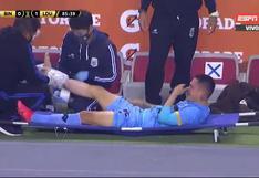 Se encienden las alarmas: las lágrimas de Deza tras lesión que no lo dejó terminar partido ante Liga de Quito [VIDEO]