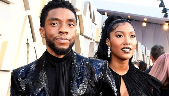 Chadwick Boseman se casó con su novia Taylor Simone Ledward antes de fallecer. (Foto: AFP)