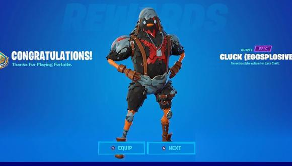 Fortnite Season 6 Cluck Eggsplosive skin