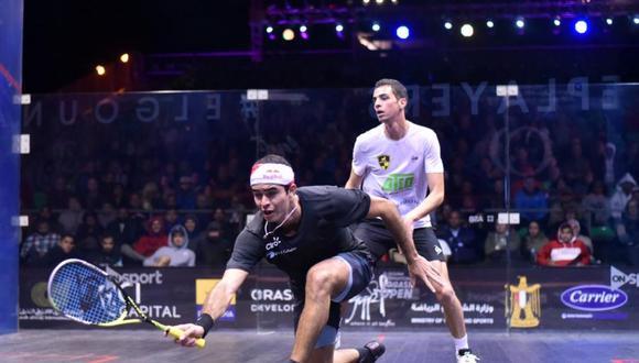 Diego Elías nos representó en squash en Lima 2019 y ganó dos medallas: un oro individual y un bronce en parejas. (Foto: ElGouna Squash)