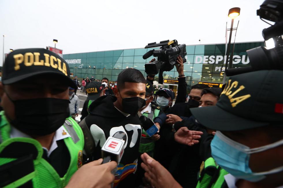 Edison Flores aterrizó en Lima para sumarse a la Selección Peruana. (Foto: Alessandro Currarino / GEC)