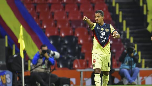 Gio dos Santos coloca momentáneamente en la punta al América.  (Foto: Twitter)