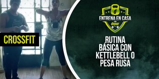 Ejercicios de CrossFit en casa: rutina básica con kettlebell o pesa rusa