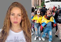 Shakira y su mensaje al Gobierno de Colombia por la represión a las protestas