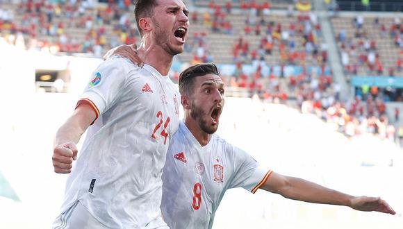 España vence 5-0 a Eslovaquia y está clasificando a octavos de final de la Copa América 2021. (Foto: AFP)
