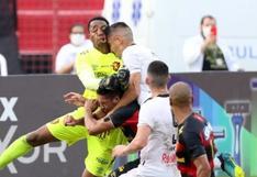 Portero de Sport Recife se fracturó la cara tras choque: sensibles imágenes dan la vuelta al mundo [VIDEO]