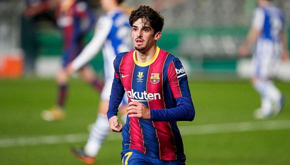 Francisco Trincao vive su primera temporada como jugador del Barcelona. (Getty)