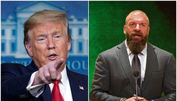 Triple H recibió los saludos de Donald Trump por sus 25 años en WWE. (Getty Images)