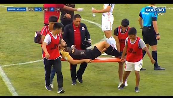 Werner Schuler salió lesionado del encuentro. (GOLPERU)