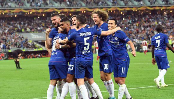 Con dos goles de Eden Hazard, Chelsea venció 4-1 al Arsenal y logró el título de la Europa Legue en Bakú.