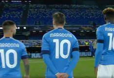 Jugadores del Napoli saltaron al campo a enfrentar la Europa League con la camiseta '10′ de Maradona [VIDEO]