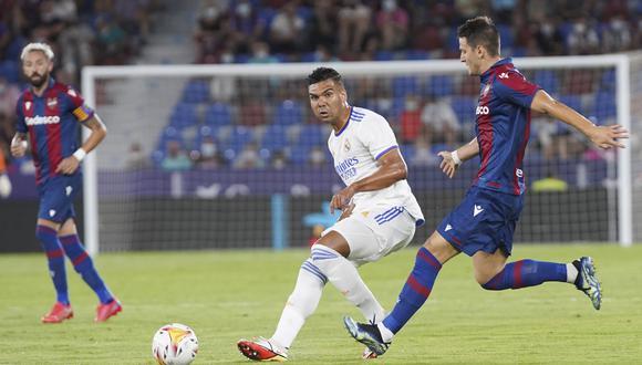 Casemiro tiene contrato con el Real Madrid hasta 2025. (AP)