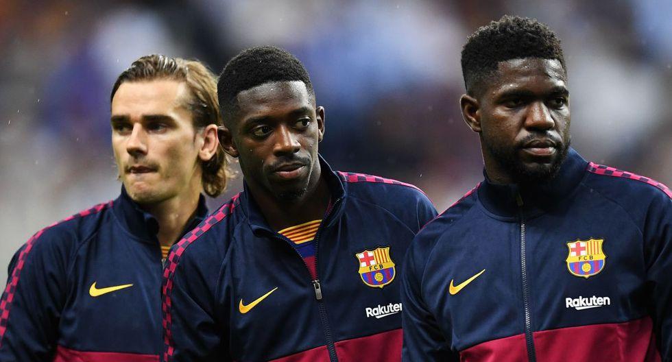 Dembélé y Umtiti regresan a una convocatoria del Barcelona en la Champions. (AFP)