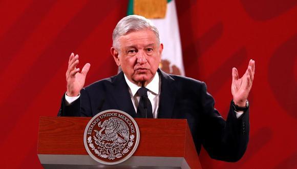 El presidente de México, Andrés Manuel López Obrador (AMLO), habla durante su conferencia de prensa matutina. (EFE/ Jorge Núñez).