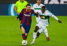 Messi abre paso: Barcelona goleó al Elche y aún sigue dando pelea en LaLiga