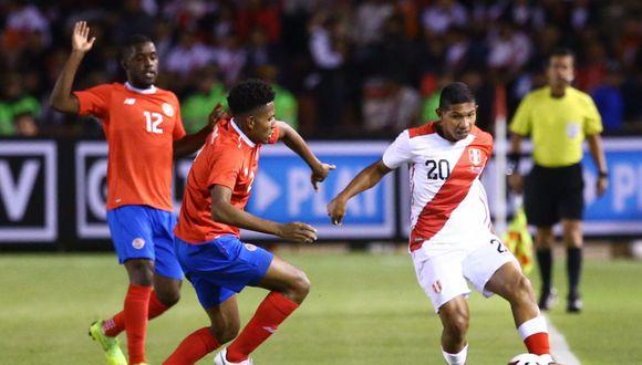 La Selección Peruana perdió 3-2 ante Costa Rica. (Foto: Jesús Saucedo)