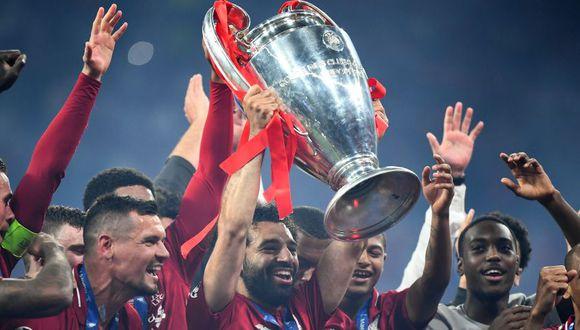El Liverpool conquistó su sexto título de la Champions League al vencer 2-0 al Tottenham, en la final disputada en el Estadio Metropolitano de Madrid y se resarce de la final perdida el año pasado en Kiev contra el Real Madrid. (Foto: AFP)