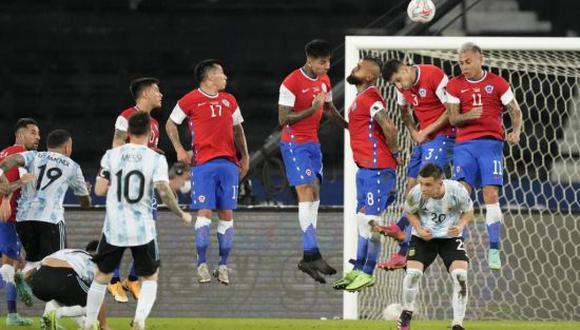 Argentina igualó 1-1 con Chile en su debut por la Copa América 2021. (Foto: Twitter)