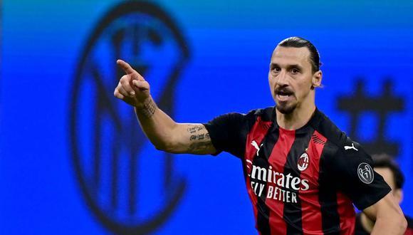 El mensaje de Zlatan Ibrahimovic después del doblete en el derbi de Milán. (Foto: AFP)