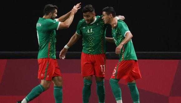 México goleó a Sudáfrica y selló su clasificación a la siguiente ronda de los Juegos Olímpicos (Foto: AFP)