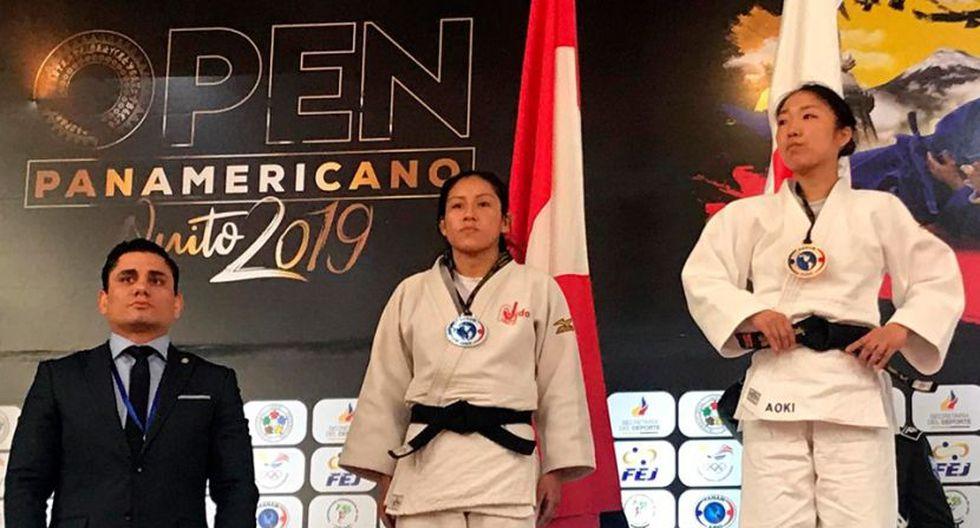 Brillith Gamarra se colgó la plata en -52 kg. (Judo Perú)