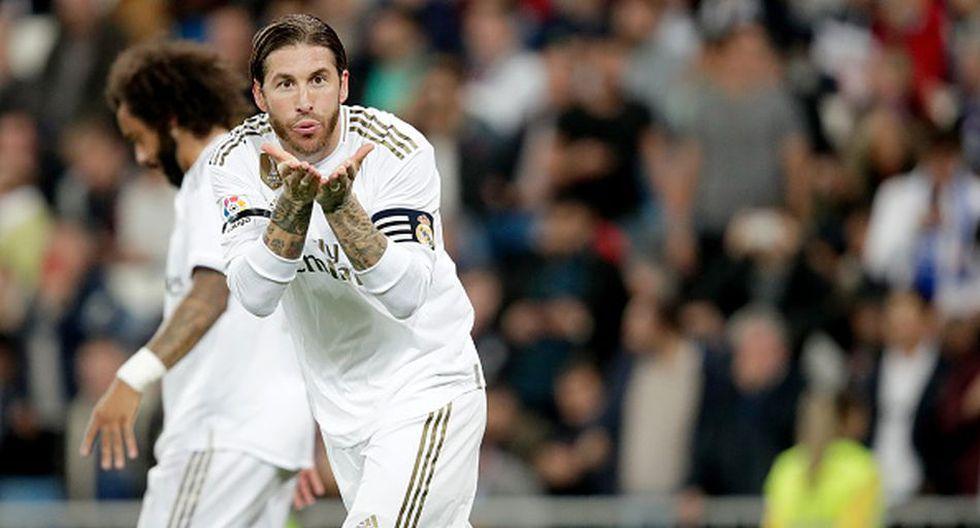 El gol de penal de Sergio Ramos en el Real Madrid vs. Leganés. (DirecTV / Getty)