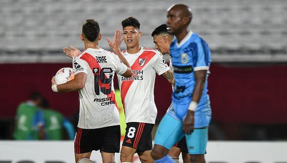 Binacional sufrió ante River Plate en el Monumental por la Copa Libertadores 2020. (Foto: Getty)