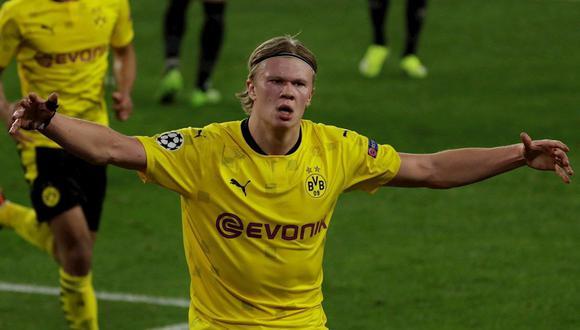 Erling Haaland anotó un doblete en la victoria 3-2 de Borussia Dortmund ante Sevilla. (Foto: EFE)