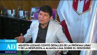Agustín Lozano espera que el torneo peruano vuelva a ser descentralizado y con cada club en su localía
