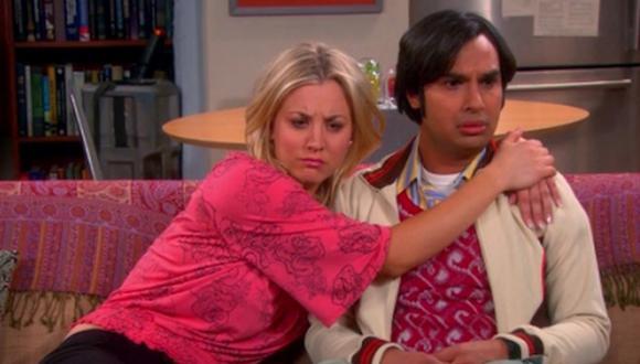 Al final de la cuarta temporada Raj y Penny pasaron la noche juntos (Foto: CBS)