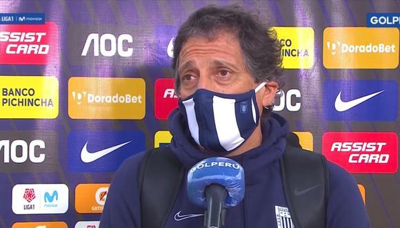 Las declaraciones de Mario Salas tras derrota de Alianza Lima por Liga 1. (Captura de TV)