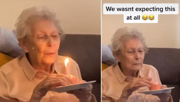 Una abuela hizo una inesperada confesión a su familia durante la celebración de su cumpleaños. (Foto: @maljayc / TikTok)