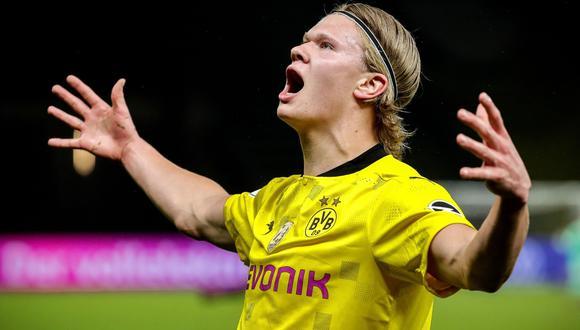 Erling Haaland saldría del del Borussia Dortmund a cambio de 75 millones de euros. (Foto: AFP)