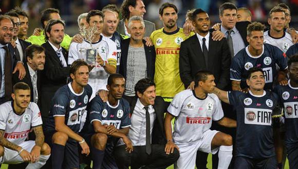 El primer partido por la Paz congregó jugadores y exjugadores de talla mundial. (Foto: AFP)