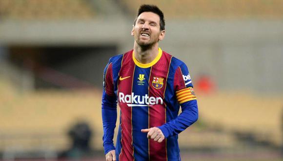Lionel Messi se ha perdido seis partidos con el Barcelona desde que llegó Koeman. (Foto: AFP)