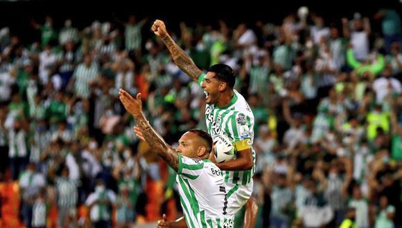 Atlético Nacional eliminó por penales a Santa Fe y clasificó a 'semis' de Copa BetPlay 2021. (Foto: Twitter)