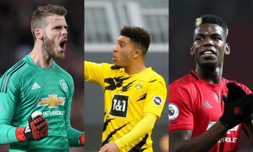 De Gea, Sancho y Pogba serán los tres jugadores con los salarios más altos en el Manchester United. (Fotos: Agencias)
