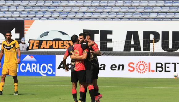 Bernardo Cuesta anotó el segundo gol de FBC Melgar. (Foto: @LigaFutProf)