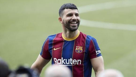 Sergio Agüero alista el debut con Barcelona. (Foto: EFE)