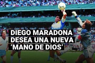 """Diego Maradona se ilusiona con otra 'Mano de Dios': """"Sueño con poder marcar con la mano derecha"""""""
