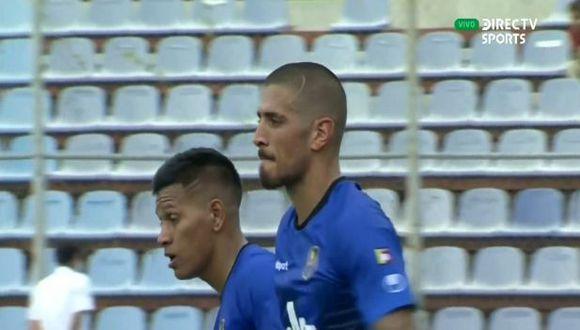 Frank Feltscher puso el primer gol para Zulia FC en Copa Sudamericana. (Captura)
