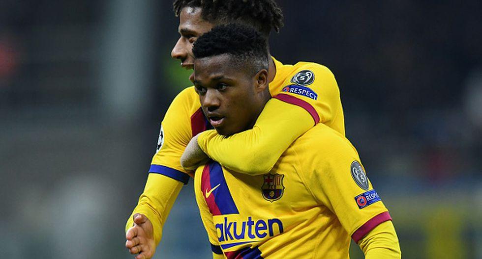 Ansu Fati le dio la victoria al Barcelona ante el Inter de Milán por Champions League. (Getty Images)