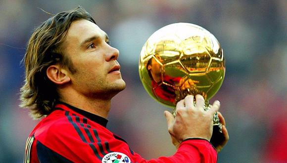 Andriy Shevchenko ganó el Balón de Oro en 2004. (Foto: AFP)