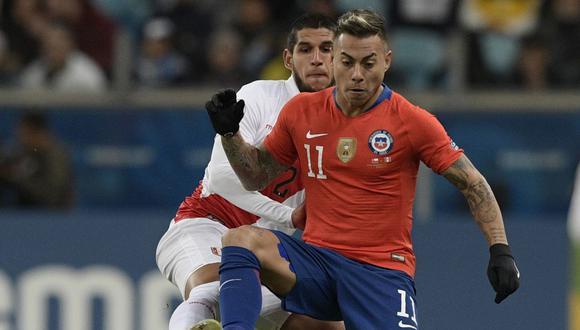 Eduardo Vargas es el segundo máximo goleador en la historia de Chile con 38 tantos. (Foto: AFP)