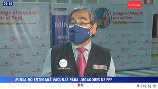 Minsa declina vacunar a seleccionados peruanos