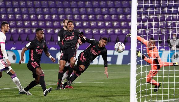 Casemiro anotó de cabeza la anotación del triunfo para el Real Madrid. (Foto: R. Madrid)